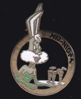 63878- Pin's-Bugs Bunny.Mid-night.signé AB 0693248845 - Cinéma