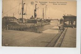 """BELGIQUE - ANVERS - ANTWERPEN - Ecluse - Vue Intérieure (bateau """"COLLEVILLE """" ) - Antwerpen"""