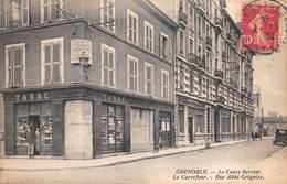 38 - Grenoble - Le Cours Berriat - Le Carrefour - Rue Abbé Grégoire Animée- (tabac - Voiture ) - Theys