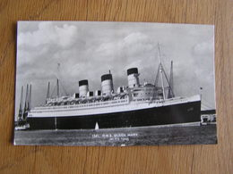 R.M.S. QUEEN MARY  N° 1341 Marine Boat Bateau Navire Paquebot Croisière Carte Postale Postkaart - Paquebots