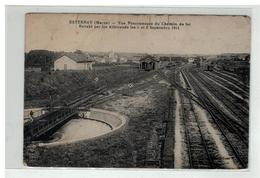 51 ESTERNAY VUE PANORAMQUE CHEMIN DE FER ENVAHI LES 5 ET 6 SEPTEMBRE 1914 GARE - Esternay