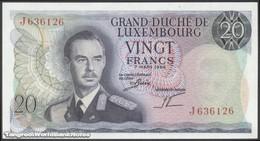 TWN - LUXEMBOURG 54b - 20 Francs 7.3.1966 Prefix J UNC - Luxembourg