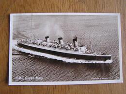 R.M.S. QUEEN MARY  Marine Boat Bateau Navire Paquebot Croisière Carte Postale Postkaart - Paquebots