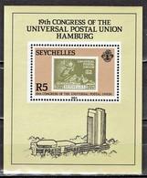 Seychellen - Mi-Nr Block 23 Postfrisch / MNH ** (v731) - Briefmarken Auf Briefmarken