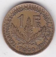 Togo Territoires Sous Mandat De La France. 1 Francs 1924. Bronze Aluminium. Lec 11 - KM# 2 - Togo