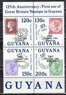 Guyana - Mi-Nr 1136/1139 Zdr Postfrisch / MNH ** (v735) - Briefmarken Auf Briefmarken
