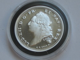 LOUIS XVI - ECU A LA COLONNE  1786 -  Magnifique Reproduction En Argent   **** EN ACHAT IMMEDIAT **** - 1774-1791 Louis XVI