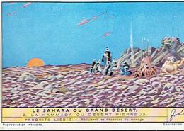 *CHROMO LIEBIG* 6 *  Le Sahara Ou Grand Desert. -  La Hammada Ou Désert Pierreux  Ovale. - Chromos
