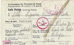 PRIGIONIERI POW CAMP DEPOT XXV KASBAH - TADLA MAROCCO 1943 PIEVE DI CENTO - Posta Militare (PM)