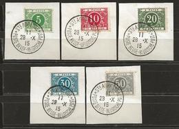 Belgique Taxe N° 12 à 16    Oblitération Sainte-Adresse - Briefmarken