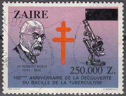 Zaïre 1992 Michel 1063 O Cote (2002) 2.00 Euro Robert Koch Tuberculose Cachet Rond - 1990-96: Oblitérés