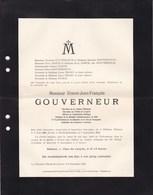 FILLIERES RHODE-SAINTE-GENESE Ernest GOUVERNEUR 1848-1912 Vice-président De L'école Française De Belgique - Décès