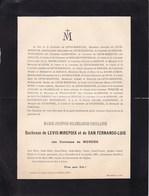 HYERES LERAN BRUXELLES Marie Comtesse De MERODE Duchesse De LEVIS-MIREPOIX De WIGNACOURT D'ARENBERG 1820-1899 - Décès
