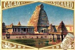12 Chromo Litho Cards Chocolate SUCHARD Set74 C1899 Litho Monuments Of Antiquity; Boedha Kamekura, Pagode Ning-po - Suchard