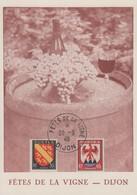 Carte   FRANCE    Fêtes  De  La  Vigne    DIJON    1946 - Marcophilie (Lettres)