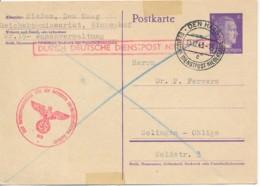 Duits Postwaardestuk Den Haag 15.12.43 – Deutsche Dienst-post Niederlande - Poststempels/ Marcofilie