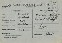 France – Poste Aux Armées 4.1.40 – Secteur Postal 138 - Militaire Kaarten Met Vrijstelling Van Portkosten