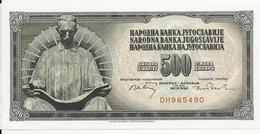 YOUGOSLAVIE 500 DINARA 1970 UNC P 84 A - Yougoslavie