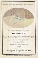 DE SWART Henriette-Elisabeth - Décédée 1867 - Vraie Photo - Imp. De Polack-Duvivier - BRUXELLES - Images Religieuses