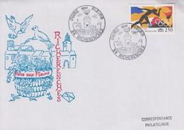 Enveloppe   FRANCE   Foire  Aux  Fleurs   RICHERENCHES    VAUCLUSE   1992 - Marcophilie (Lettres)