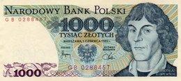 POLAND 1000 ZLOTYCH 1982  P-146c  Unc - Poland