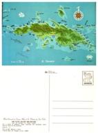 Map Of St. Thomas, St. John, U.S. Virgin Islands, Tortola, British Virgin Islands - Virgin Islands, US
