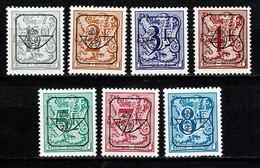 Belg. 1982-1984  PRE801P7/PRE813P7** Typo Blauwe Gom / Gomme Bleu MNH (2 Scans) - Precancels