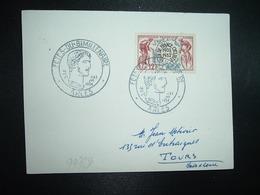 CARTE TP TOUR DE FRANCE CYCLISTE 1953 12F OBL.4&5 JUIL. 1954 ARLES FETES DU BIMILLENAIRE - Marcophilie (Lettres)
