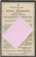 DP. DESIRE SNAUWAERT ° WONTERGHEM 1859- + DENTERGHEM 1928 - Religion & Esotérisme