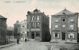 Tamines La Grand'Place Avec La Pharmacie C.Fichefet Et Le Café Henrion Gilles Circulée En 1909 - Sambreville