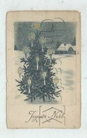 Noêl (Fête) : Arbre De Noël Avec Bougies Illustration En 1930 PF - Noël