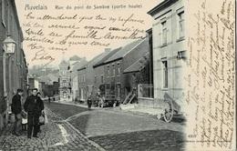 Auvelais Rue Du Pont De Sambre ( Partie Haute ) Circulée En 1904 - Sambreville