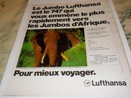 ANCIENNE PUBLICITE LE JUMBO LUFTHANSA 1975 - Advertenties