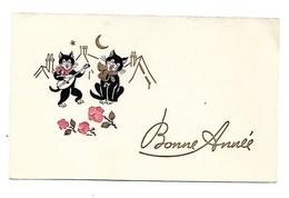 Carte Mignonnette - Bonne Année ,chat - Neujahr