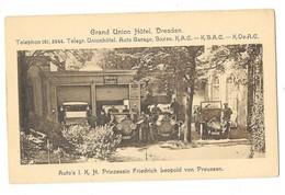 DRESDEN DRESDE (Allemagne) Grand Union Hotel Auto's IKH Prinzessin Friedrich Leopold Von Preussen - Dresden