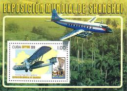 Cuba 2010 Sheet World Fair Shanghai  Handley-Page HP-42 - Airplanes