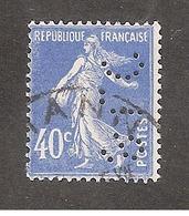 Perforé/perfin/lochung France No 237 SLC Scheurer-Lauth Et Cie - France
