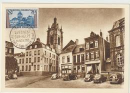 Carte-Maximum FRANCE N° Yvert 1221 (AVESNES) Obl Sp 1er Jour (Ed MF) - 1950-59