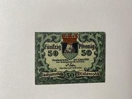 Allemagne Notgeld Zeulenroda 50 Pfennig - [ 3] 1918-1933 : République De Weimar