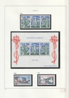 Monaco  .    Yvert    .   Page Avec Timbres     .     **   .   Neuf SANS  Charniere   .   /  .   MNH - Ungebraucht
