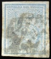 1866 URUGUAY Used Cifra 5 C. Imperforate - Yvert 30 - Uruguay