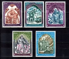 1972, 1974 -77 Monaco Red Cross Issues 5v MNH** St. Francis Assisi St. Bernhard St. Bernhardin Von Siena D. Bosco - Monaco