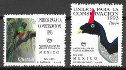 Mexico 1993 MiNr. 2367 - 2368  Mexiko Endangered Birds  2v MNH** 8.00 € - Cuckoos & Turacos