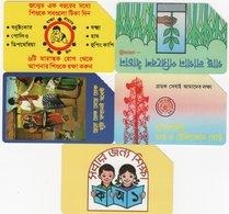 *BANGLADESH* - Lotto Di 5 Schede Schede Usate Differenti - Bangladesh
