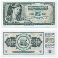 Billet Yugoslavie 5 Dinar - Yougoslavie