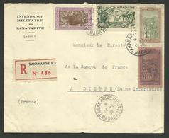 Lettre Recommandée TANANARIVE 14.01.1938 >>> DIEPPE - Madagascar (1889-1960)