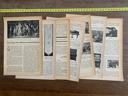1914 JST VOGUE DES PIANOS AUTOMATIQUES ENRICO CARUSO METROSTYLE PLEYELA MELODIA USINE HERRBURGER SCHWANDER LIMONAIRE - Collections