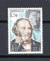 Principato Di  MONACO :   Rowland  Hill  -  1  Val.  MNH**   Del   12.11.1979 - Monaco