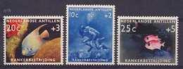 Nederlandse Antillen NVPH Nr 315/317 Ongebruikt/MH Vissen, Fish, Poisson, Duiker, Scubadiving 1960 - Curacao, Netherlands Antilles, Aruba
