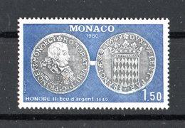 Principato Di  MONACO :   Numismatica   -  1  Val.  MNH**   Del   28.04.1980 - Monaco